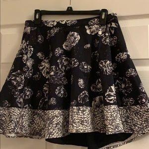Black and White Pocket Skirt